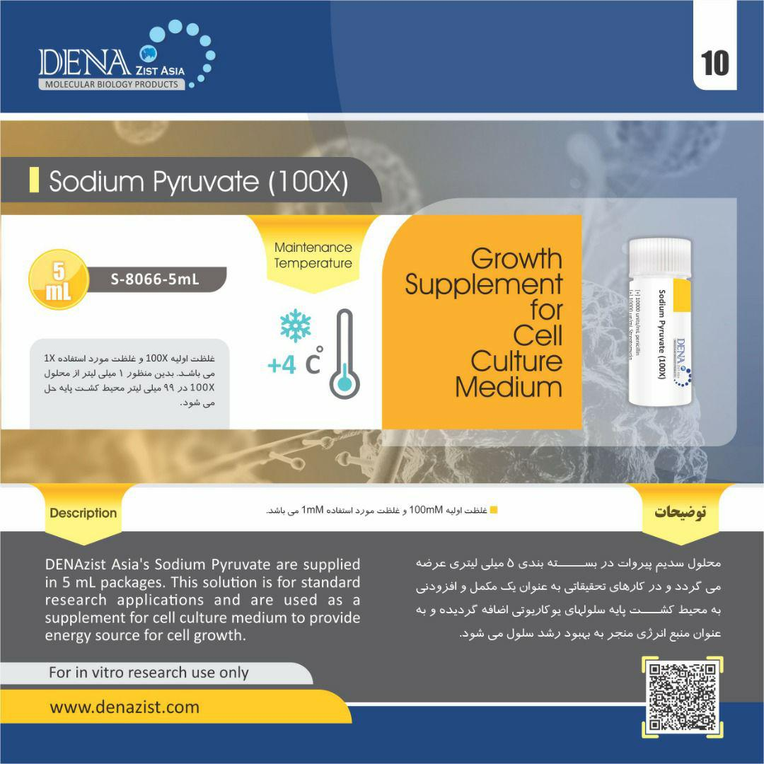 محلول سدیم پیروات Sodium Pyruvate مکمل محیط کشت سلول